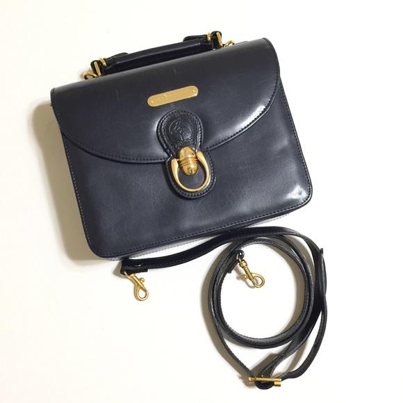 bf28b19ae5 VTG Polo Ralph Lauren equestrian box purse navy. M 5b2d7ed05c445205ec472f81